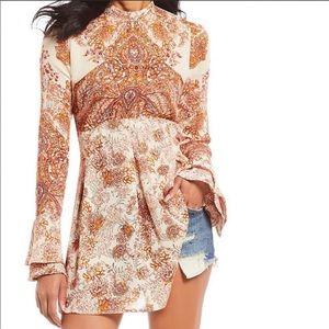 Free People Lady Luck Tunic Dress Size Medium NWT!